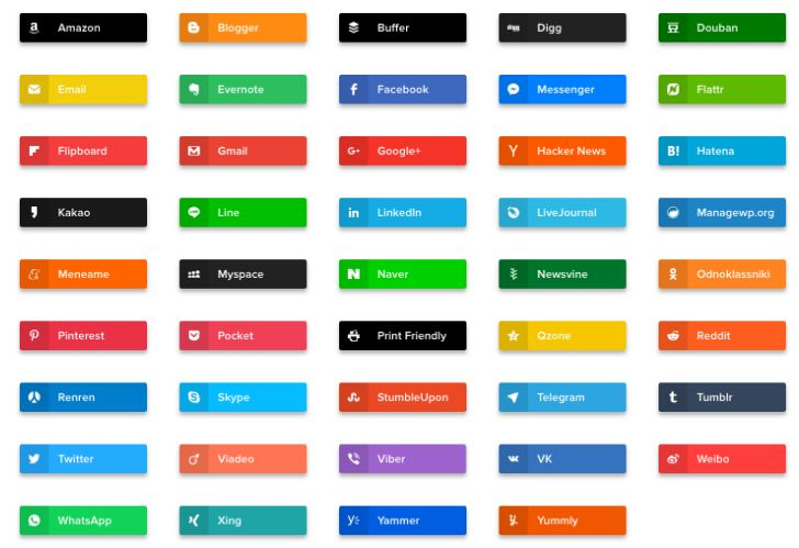 Top 10 plugin chia sẻ mạng xã hội tốt nhất năm 2019