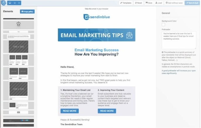 SendinBlue Email.