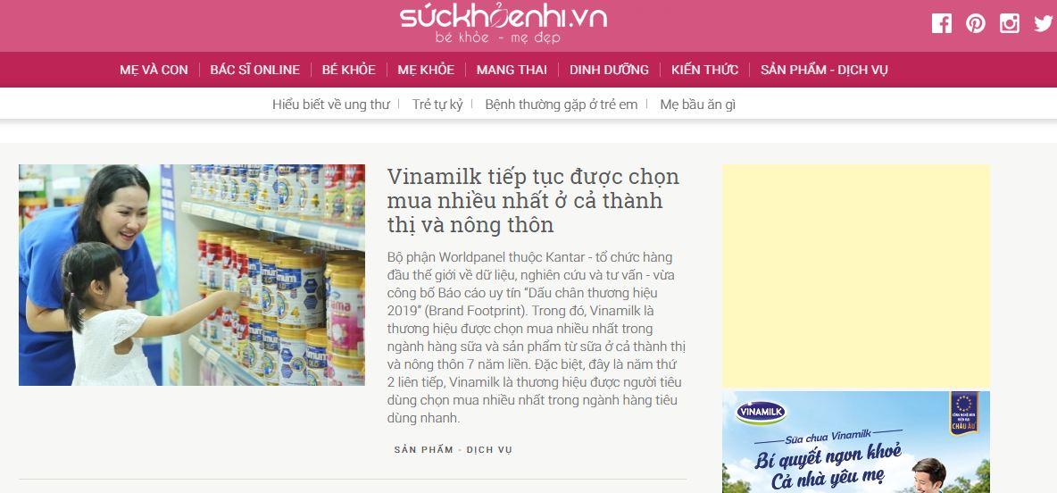 Suckhoenhi.vn là trang cung cấp thông tin về chăm sóc sức khỏe và dinh dưỡng cho các bà mẹ và em bé về mang thai