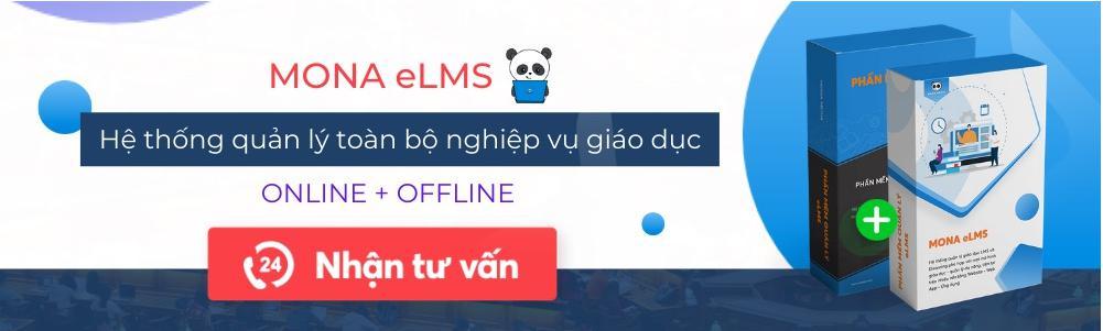 Phân mềm quản lý trường học - trung tâm giáo dục Mona eLMS