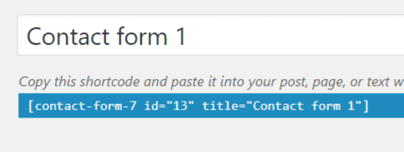 code contact form